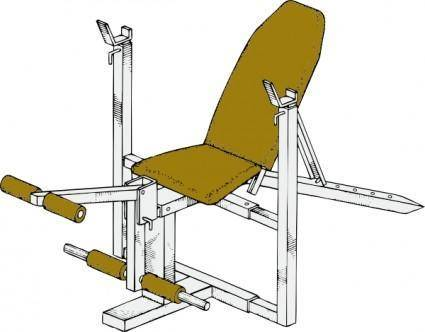 Exercise Bench clip art