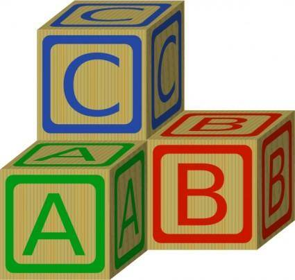 free vector Abc Blocks clip art