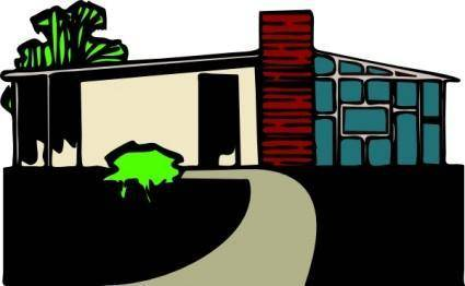 Abitazione Villa Con Giardino clip art