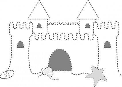 free vector Sand Castle clip art