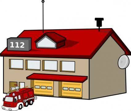 free vector Fire Station clip art