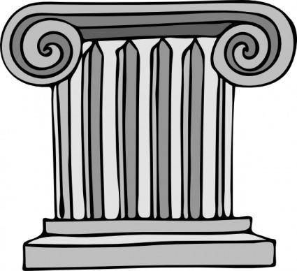 free vector Short Pillar clip art