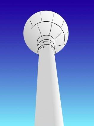 free vector Water Tower clip art