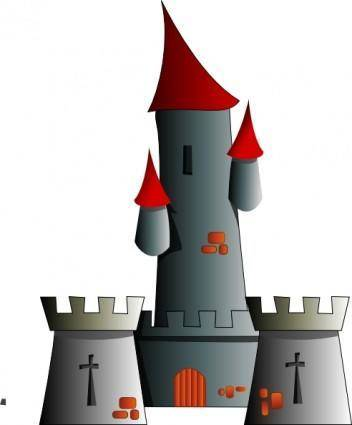 free vector Chateau Citadel Fort Castle clip art