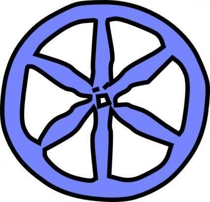 Blue Antique Wheel clip art