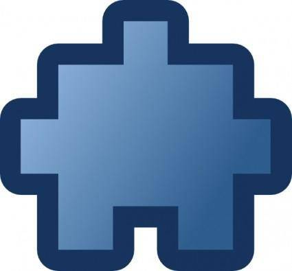 free vector Jean Victor Balin Icon Puzzle Blue clip art