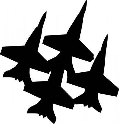 free vector Blue Angels Formation clip art