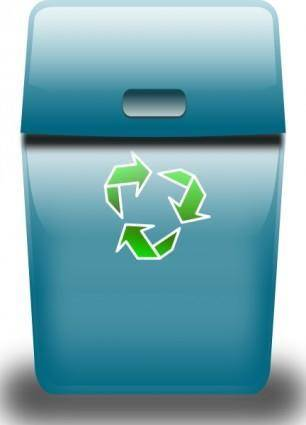 Ronoaldo Blue Trash Can clip art
