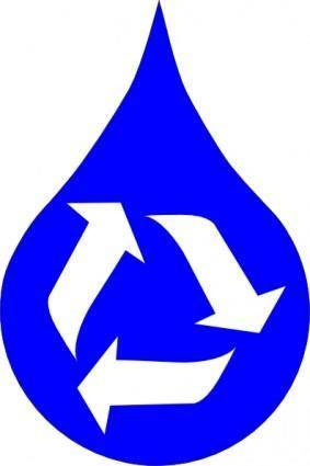Ksd Recycle Water Blue clip art