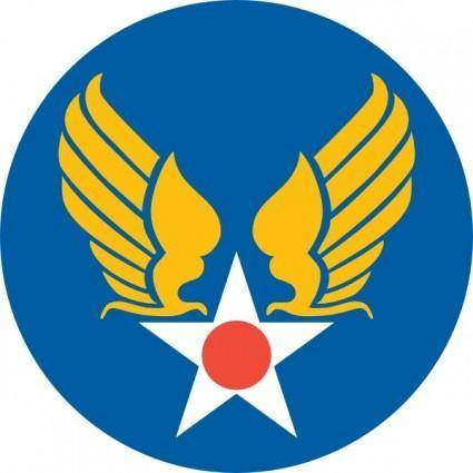 free vector Us Army Air Corps Shield clip art
