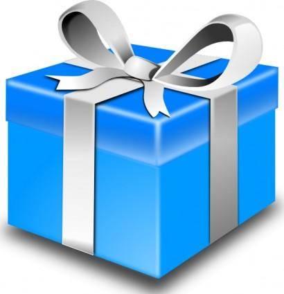Blue Gift clip art