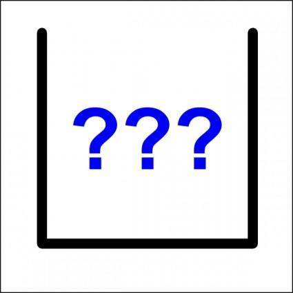 Question Marks Icon clip art