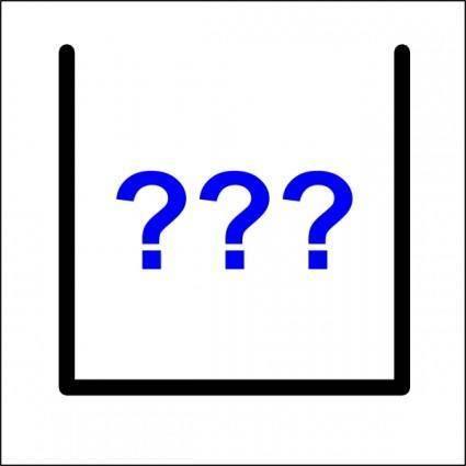 Question Marks Icon clip art