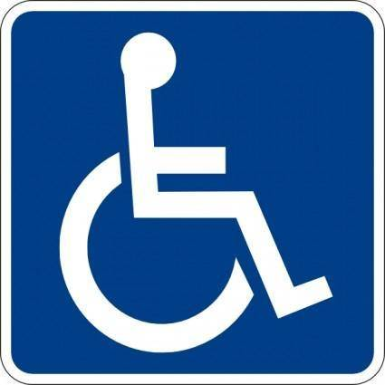 Handicapped Accessible Sign clip art