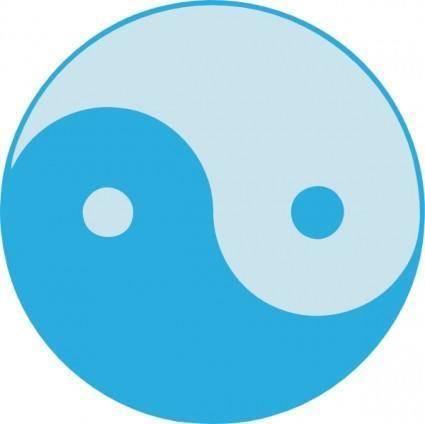 Blue Yin Yang clip art