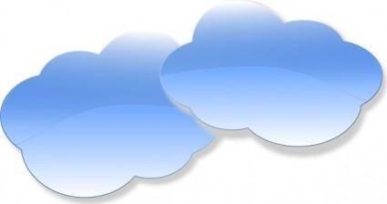 free vector Clouds clip art