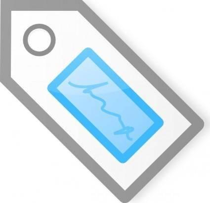 Blue Tag clip art