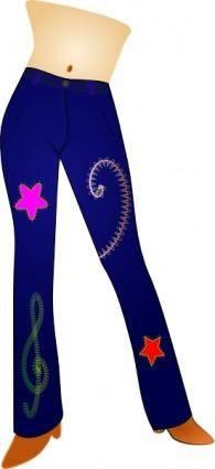 free vector Blue Jeans clip art