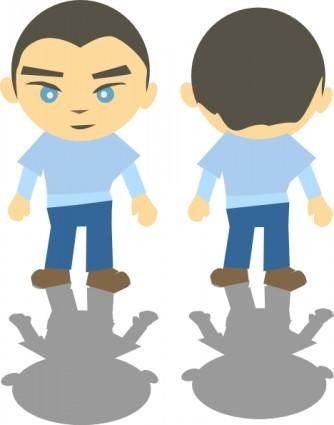 free vector White Boy clip art