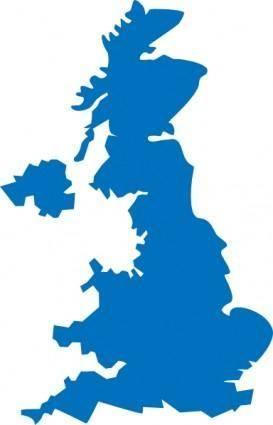 free vector United Kingdom Map clip art