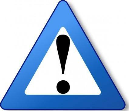 Ambox Warning Blue clip art