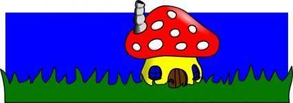 Mushroom Home clip art