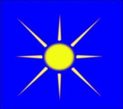 free vector Sun With Blue Sky clip art