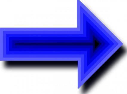 free vector Arrow Set With Depth clip art