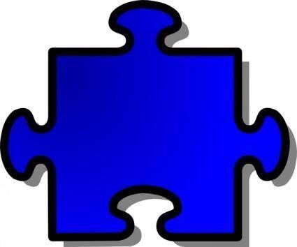 Blue Jigsaw Piece clip art