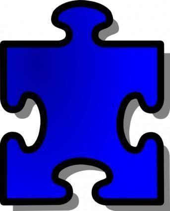 Blue Jigsaw Puzzle Piece clip art
