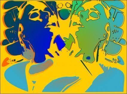 Psychotic Portrait clip art
