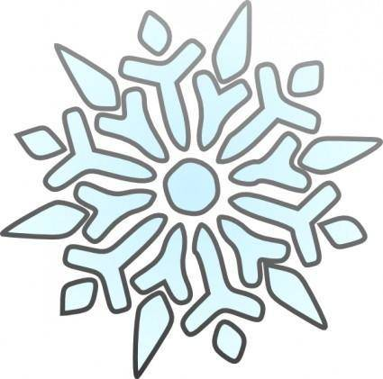 free vector Erik Single Snowflake clip art