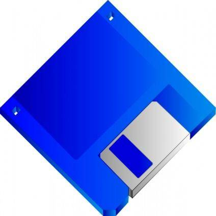 Sabathius Floppy Disk Blue No Label clip art