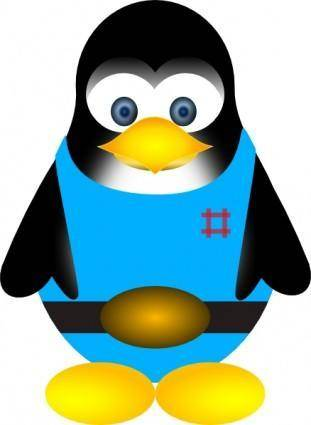 free vector Tux Penguin clip art