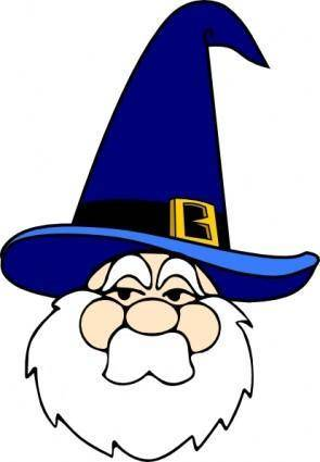 Wizard In Blue Hat clip art