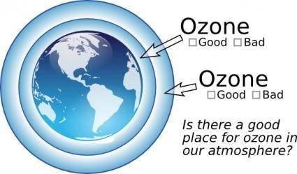 Ted Ozone In Atmosphere clip art
