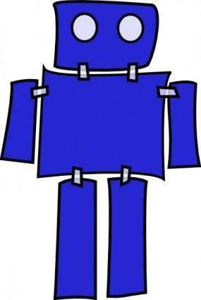 Blue Robot clip art