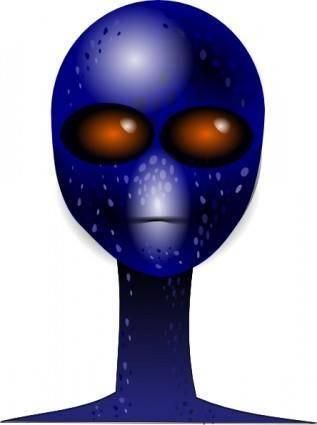 Alien Face clip art