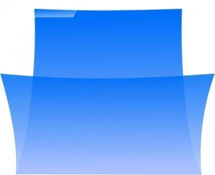Enrico Folder Oxygenlike Blue Image clip art