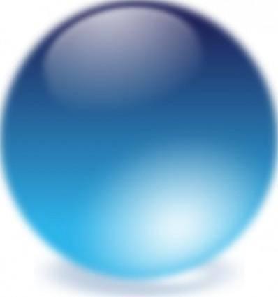 free vector Blue Cristal Ball clip art