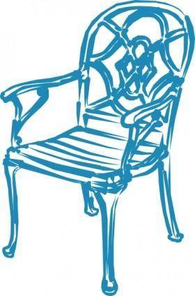 free vector Blue Chair clip art