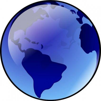 free vector Blue Earth clip art