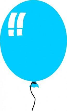 free vector Helium Blue Balloon clip art