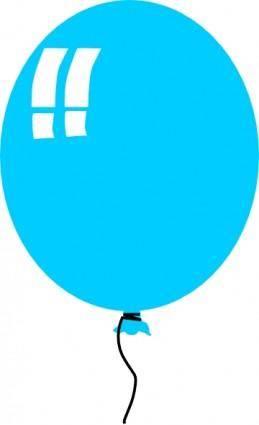 Helium Blue Balloon clip art