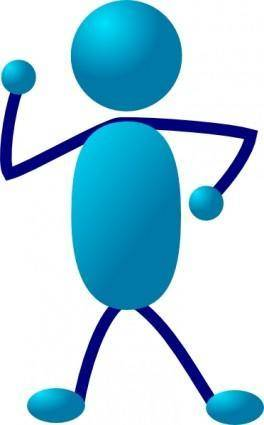 free vector Stick Man Thinking clip art