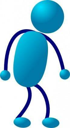 Stick Man Sad Walking clip art