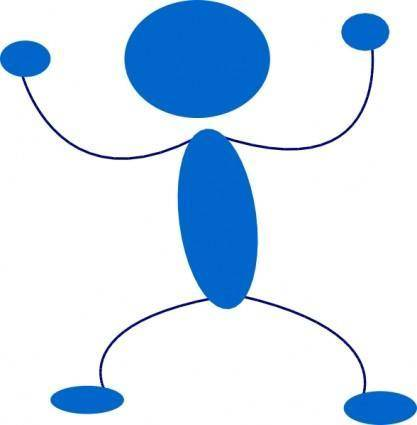 free vector Blue Man Preparing To Punch clip art