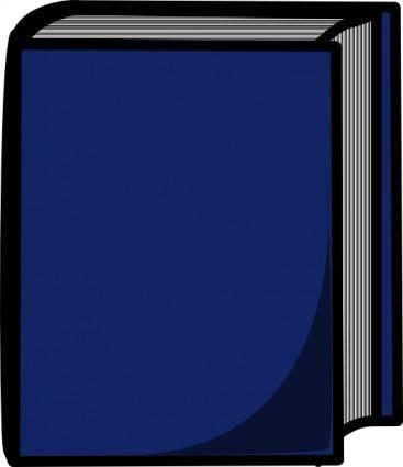 free vector Blue Harcover Book clip art