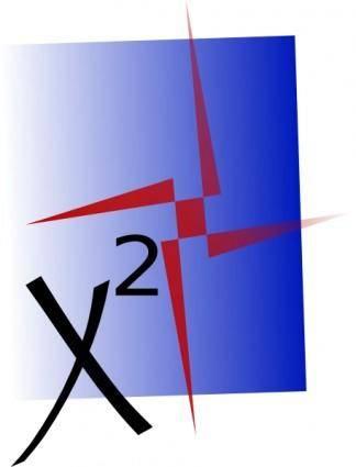 Ex X Squared clip art