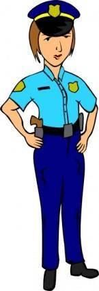 free vector Woman Police clip art